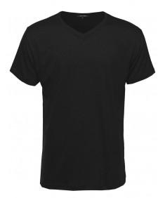 Men's Basic Lightweight High V-Neck Tee Shirt
