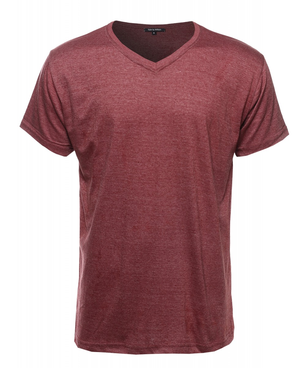 men 39 s basic lightweight high v neck tee shirt