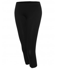 Women's Classic and Basic Essential Soft Capri Leggings