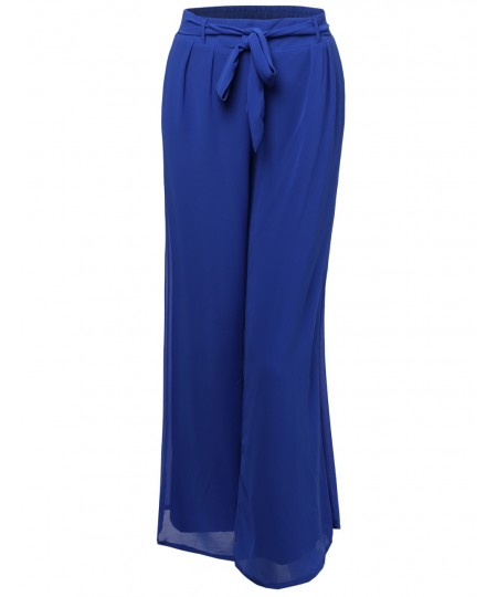 Women's Classic High Waisted Adjustable Waist Summer Palazzo Pants