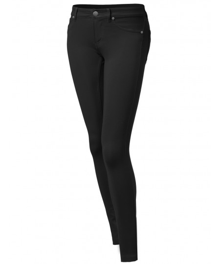 Women's Essential One Button Skinny Pants