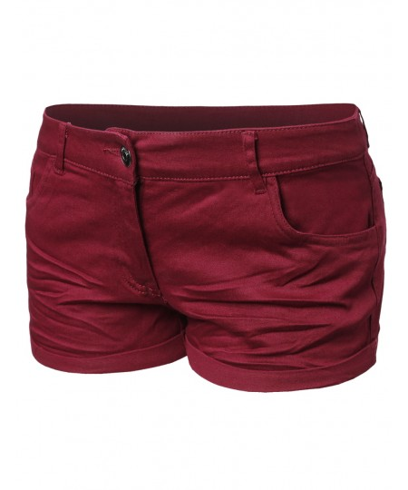 Women's Basic Solid Trendy Colorful Shorts