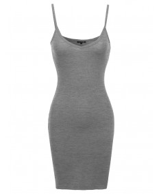 Women's Everyday Lounging Spaghetti Strap Fitted Dress