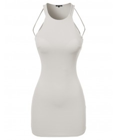 Women's Sleeveless Strappy Caged back Mini Dress