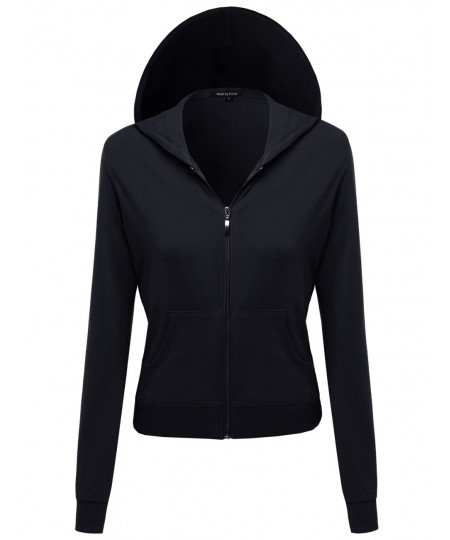 Women's A Classic French Terry Zip Up Hoodie