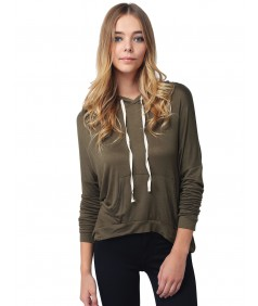 Women's Lightweight Stretchy Soft Kangaroo Pocket Hoodie