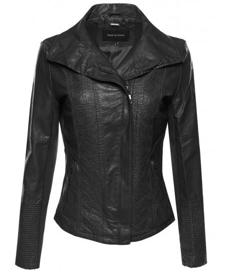 Women's Bike Rider Moto Leather Jacket