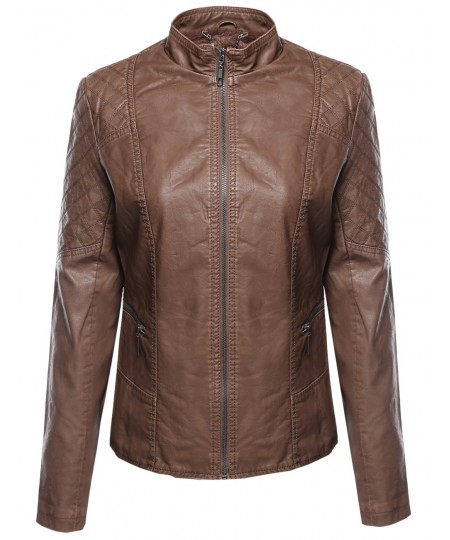 Women's Bike Rider Moto Leather Jacket