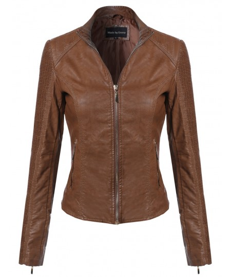 Women's Bike Rider Moto Leather Jacket2