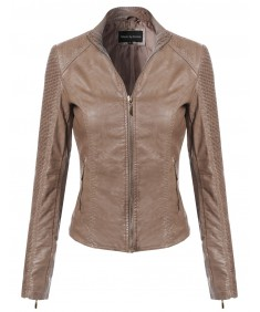 Women's Bike Rider Moto Leather Jacket2