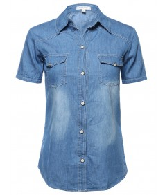 Women's Classic Short Sleeve Chambray