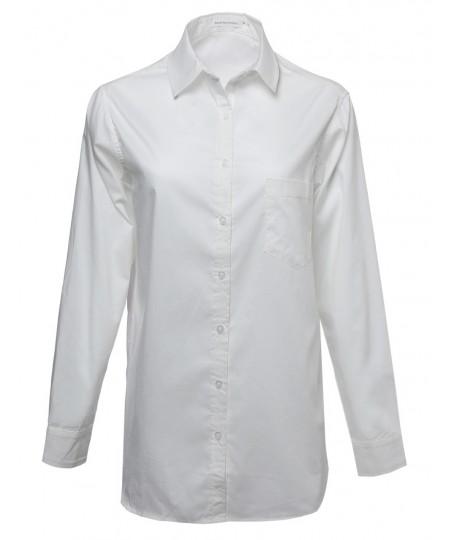 Women's Basic & Classic Oversized Button Up Shirt