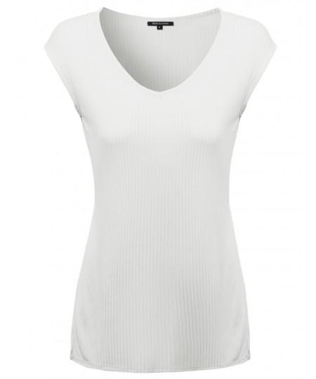 Women's Ribbed Basic Sleeveless Tank Top