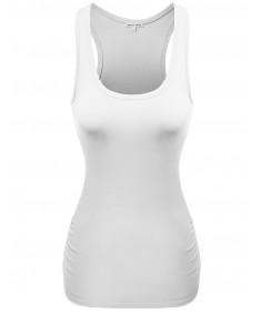 Women's Basic Cotton Sleeveless Racerback Tank tops