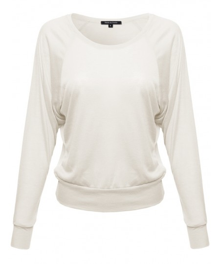Women's Basic Sheer Long Sleeve Top