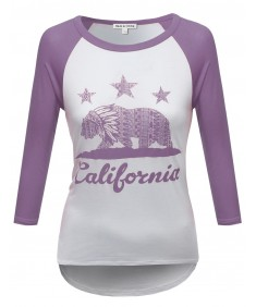 Women's 3/4 Sleeve Raglan Baseball Tee