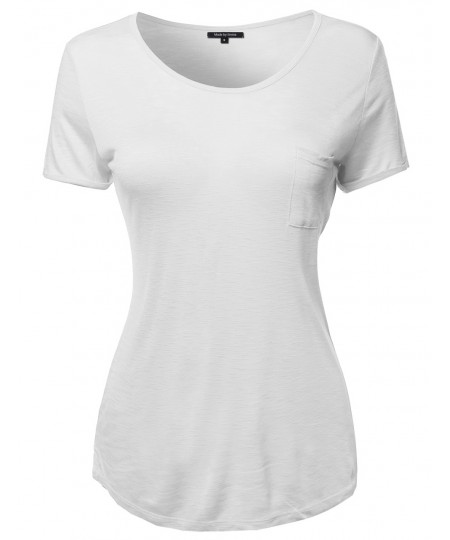 Women's Solid Cap Sleeve Crew Neck Tee Shirt In Various Colors