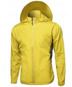 Men's Active Zip Up Detachable Hooded Windbreaker