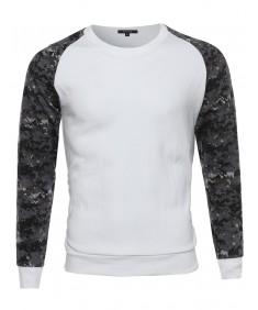 Men's Long Sleeve Raglan Military Sweatshirt