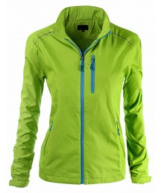 Women's Basic All Outdoor Windbreaker Hoodie Jacket