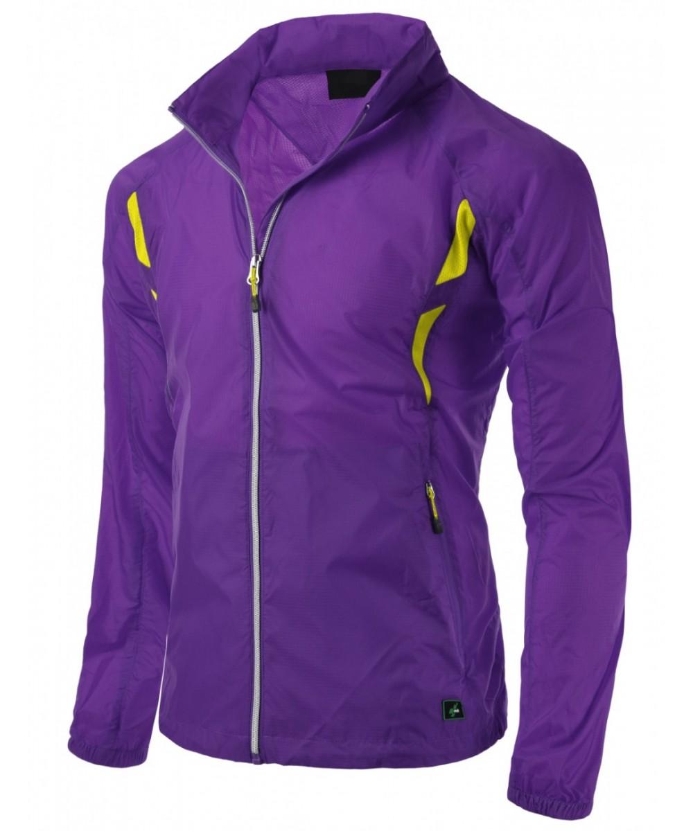 Simple design Full zip up bright outdoor windbreaker Jacket
