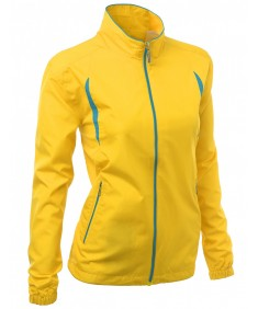 Women's 2-Tone Vivid Color Sporty Design Full Zip Up Outdoor Jacket