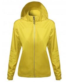 Women's Active Zip Up Detachable Hooded Windbreaker
