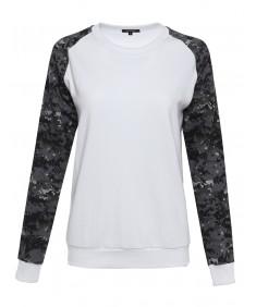 Women's Long Sleeve Raglan Military Sweatshirt