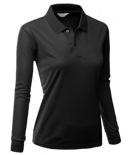 Women's Functional Coolmax Collar Long Sleeve T-Shirt