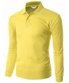 Men's Functional Coolmax Collar Long Sleeve T-Shirt