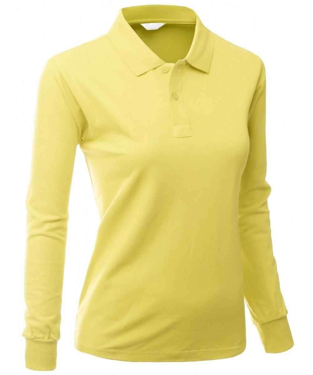 3d89a1737cb Women's Cotton Pk Silket Polo Dri Fit Long Sleeve Collar T Shirt