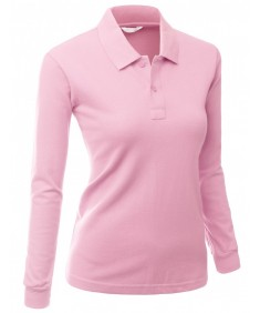 Women's Luxurious Solid Long Sleeves PK Polo Shirt