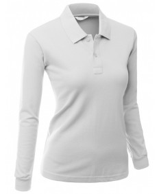 Women's Luxurious Pk Long Sleeve Polo T-Shirt