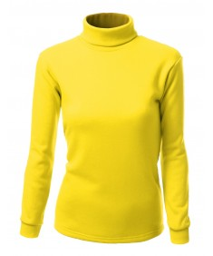 Women's Double Long Sleeve Layer Turtleneck T-Shirt