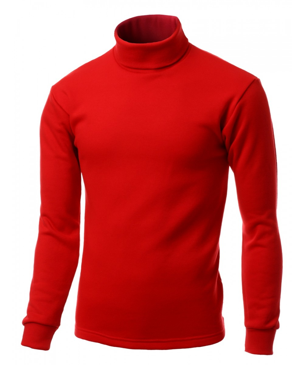 Men 39 s turtleneck long sleeve knit shirt layer top made in for Turtleneck under t shirt