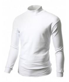 Men's Double Long Sleeve Layer Half Turtleneck T-Shirt