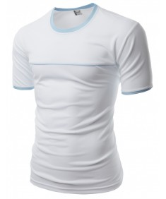 Men's Coolmax Neck Point 2 Tone Round T-Shirt