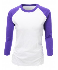 Women's 20X20 3/4 Sleeve 2 Tone Round Neck T-Shirt