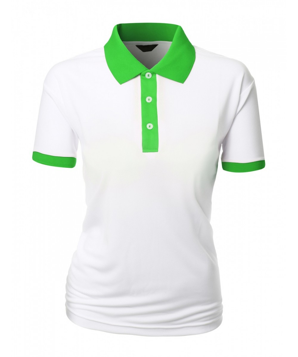 Light Green Polo Shirt Womens Chad Crowley Productions