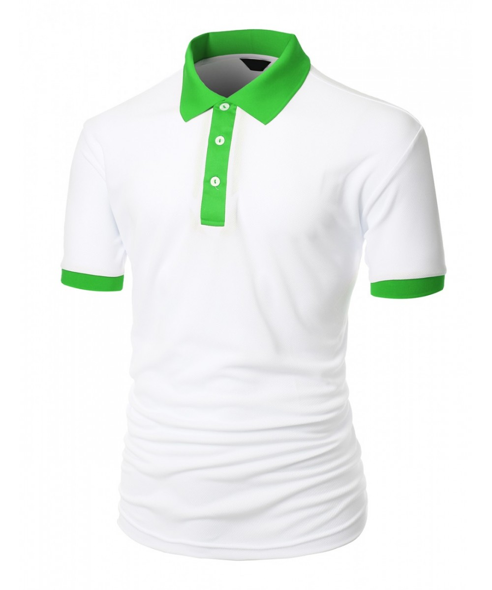 Image result for white t shirt with green collar