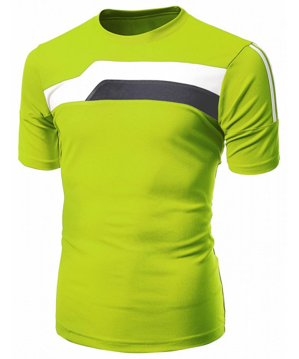 Coolon 2 Tone Design Roundneck Short Sleeve T Shirt Fashionoutfit