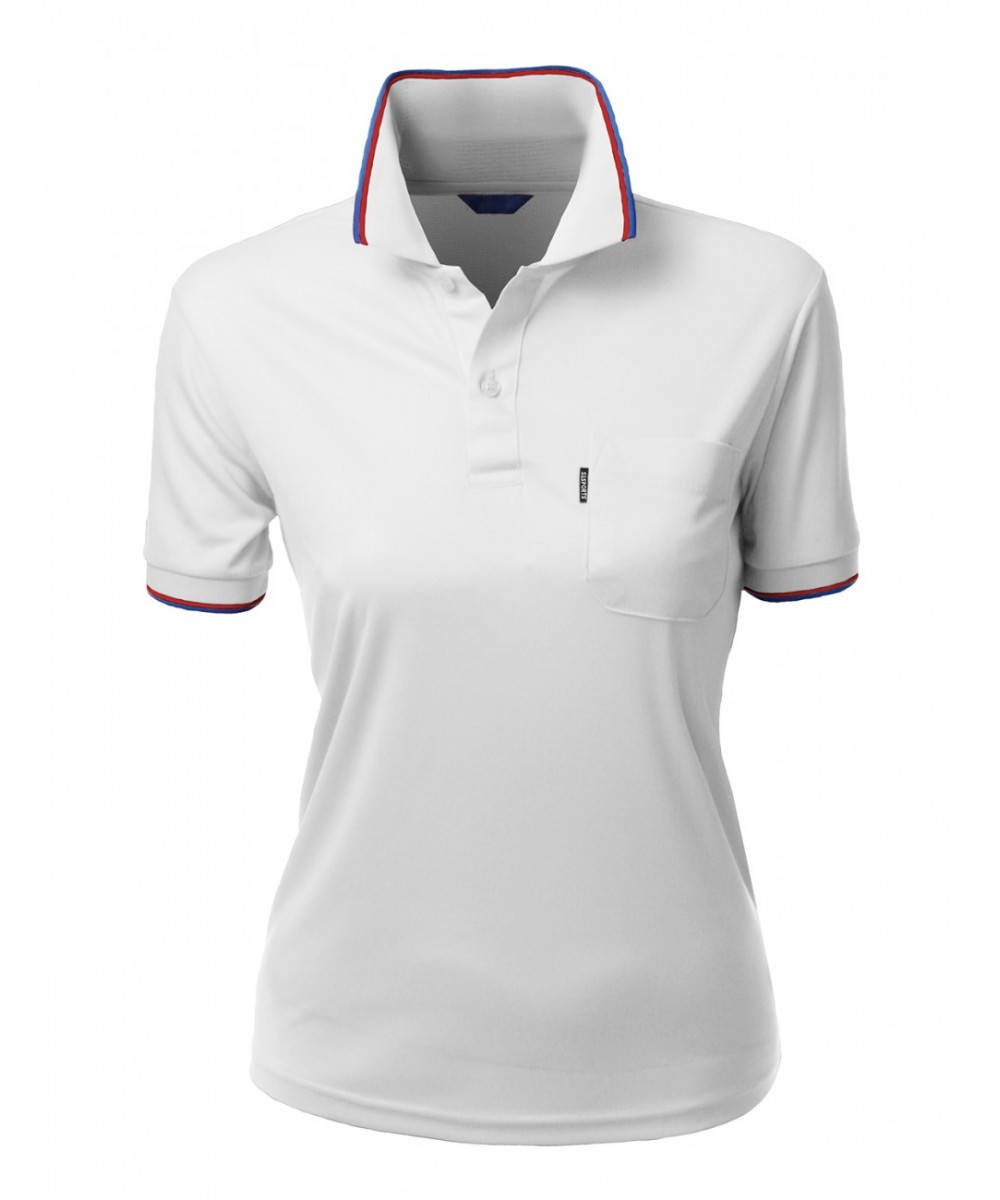 Coolon fabric short sleeve pocket point polo t shirt for Short sleeve polo shirt with pocket