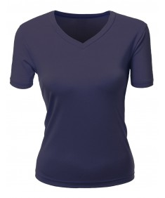 Women's Basic V-Neck Scoop Neck T-Shirts