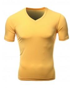 Men's Basic V-Neck Scoop Neck T-Shirts