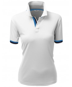 Women's Jacquard Sport Polo T-Shirts