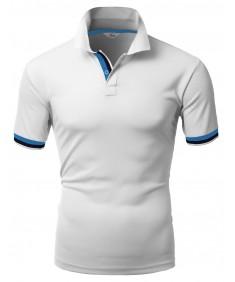 Men's Jacquard Sport Polo T-Shirts