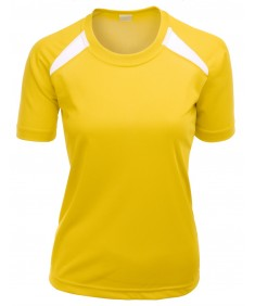 Women's Basic Design Colorful Coolmax Short Sleeve Round Neck T Shirt