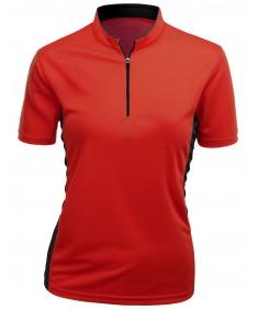 Women's Coolmax 2 Tone China Short Sleeve T Shirt