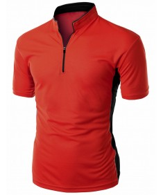Men's Coolmax 2 Tone China Short Sleeve T Shirt