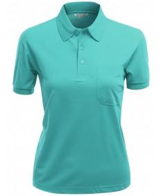 Women's Pique 180-200 Tc Dri Fit Collar Short Sleeve Polo T-Shirt